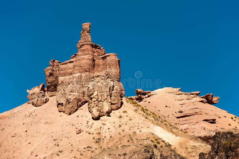 Rock formations at Charyn canyon stock images