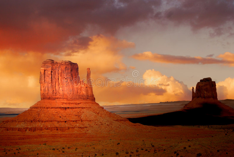 Rock Formations In Monument Valley Royalty Free Stock Photography