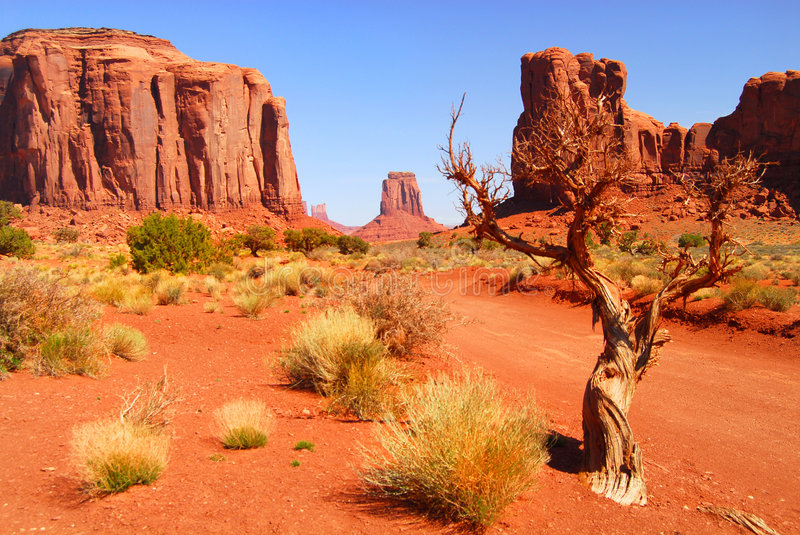 Rock formations in Monument Valley royalty free stock image