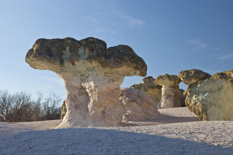 Rock formations mushrooms royalty free stock photography