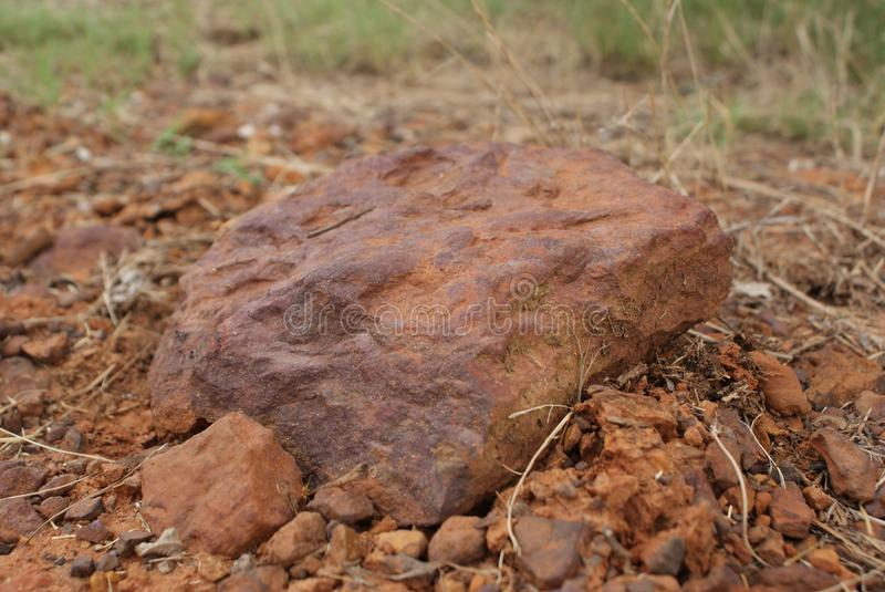 A rock found on my cattle ranch in far in East Texas. stock images