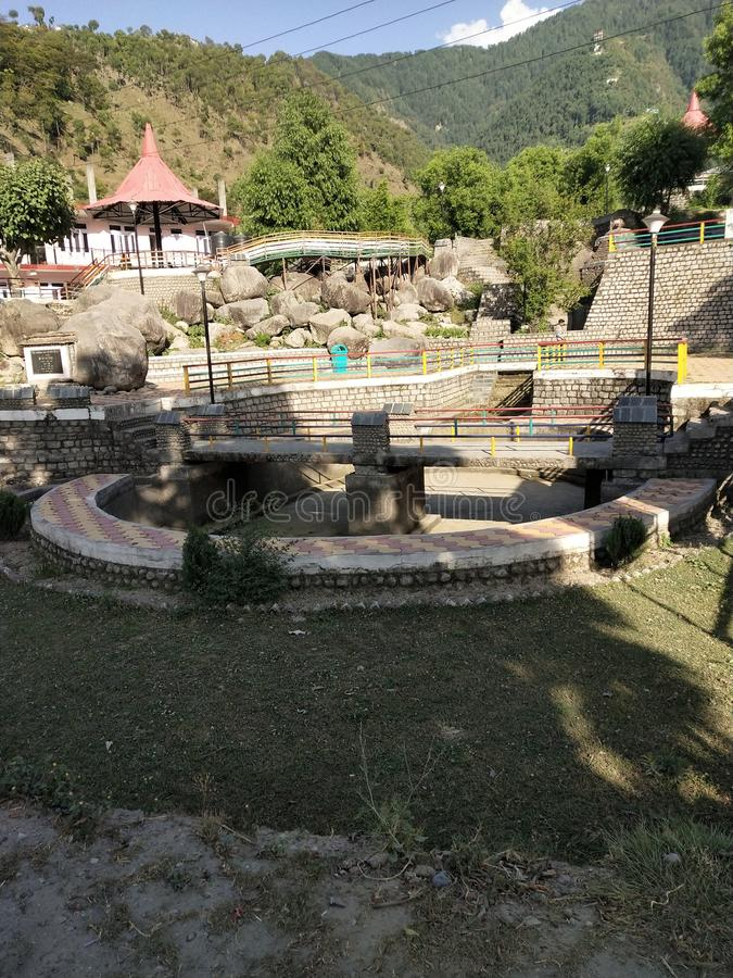 Rock garden Chamba dalhousie, India stock image