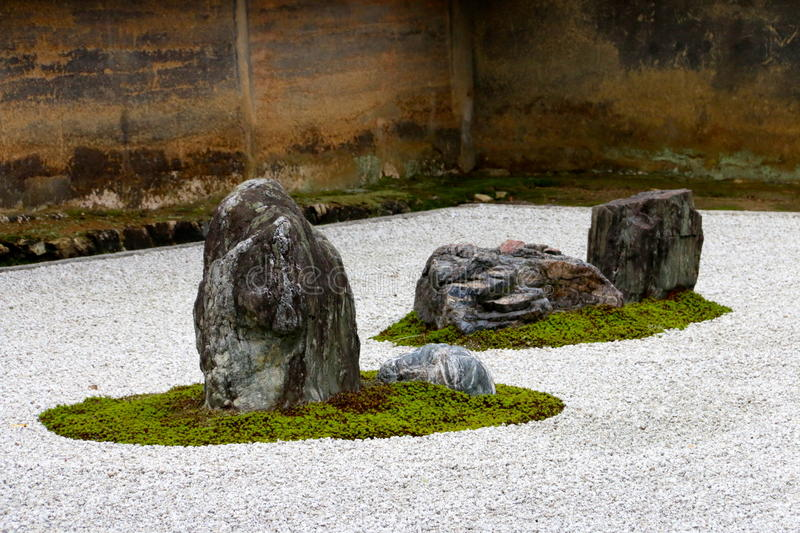 A Corner Of A Japanese Rock Garden In A Buddhist Temple