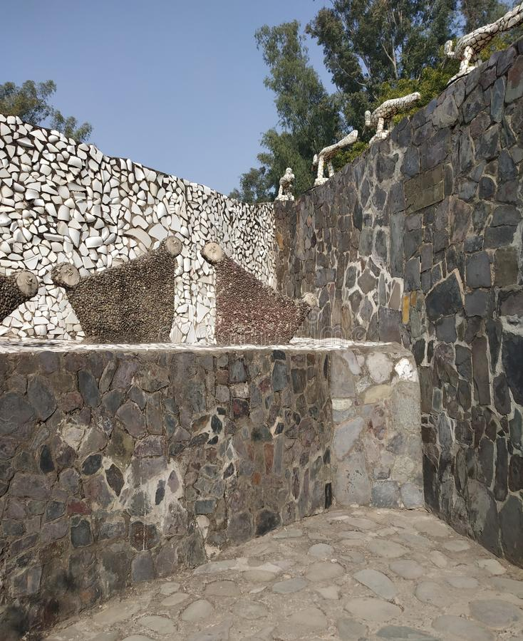 Rock Garden, Doll Museum, Chandigarh, India royalty free stock photo