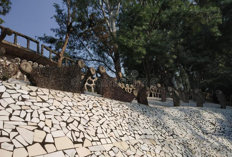Rock Garden, Doll Museum, Chandigarh, India royalty free stock image
