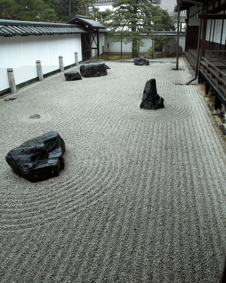 Free Rock Garden In Kyoto, Japan Stock Photography - 2024482