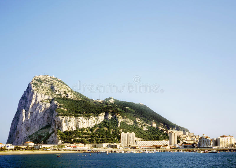 The rock of Gibraltar royalty free stock photography