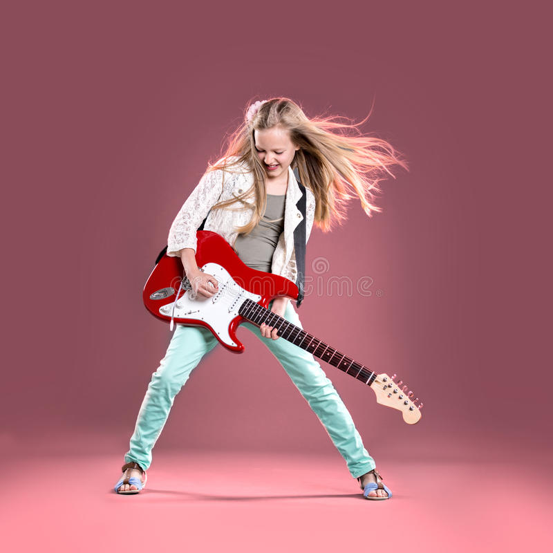 Rock girl stock photography