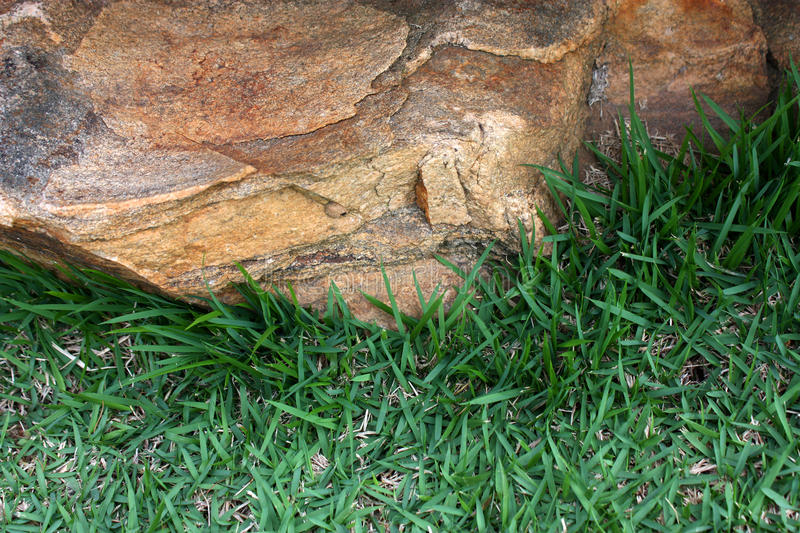 Rock and grass royalty free stock photos