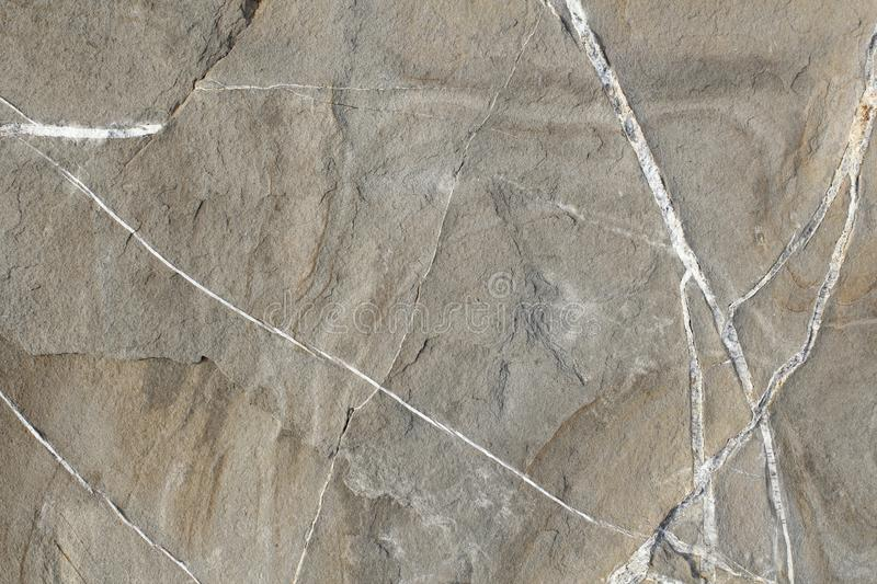 Rock background. A rock of gray and white veins photographed frontally stock photos