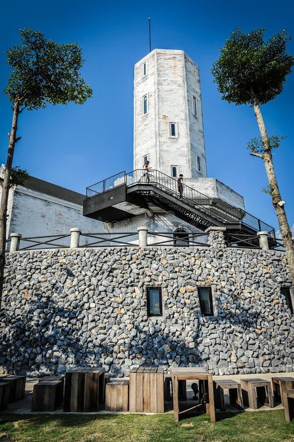 Rock grey tower stock image