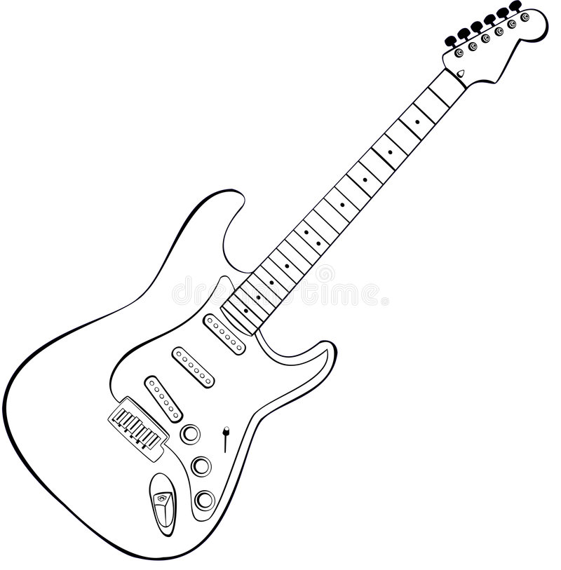 Rock guitar vector royalty free illustration