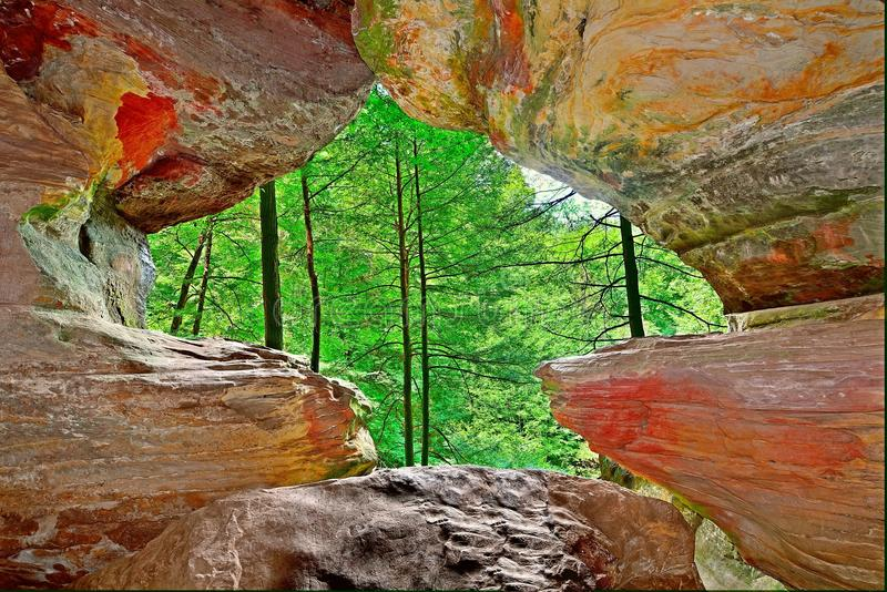 Rock House Cave royalty free stock image