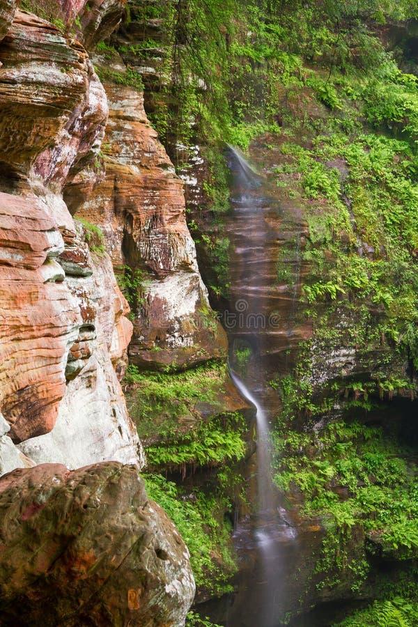 Free Rock House Waterfall Royalty Free Stock Photos - 31056378