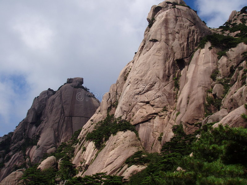 The rock of Huangshan in China royalty free stock photo