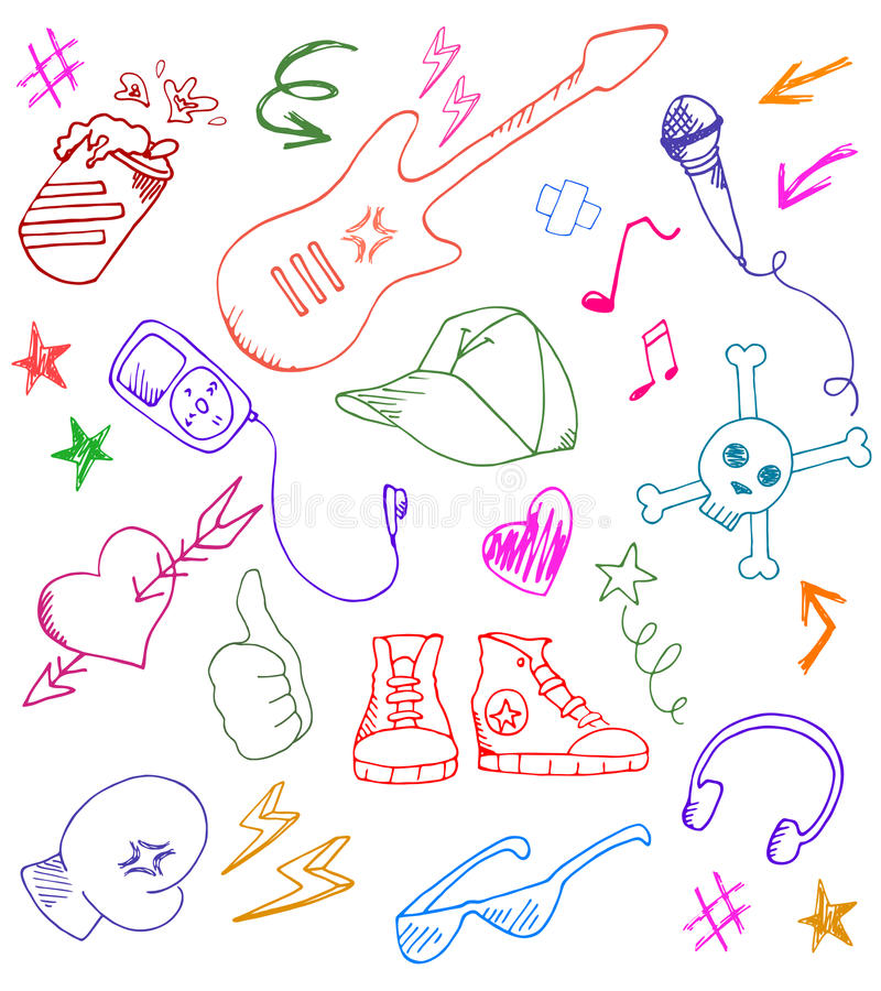 Rock Icons Royalty Free Stock Images