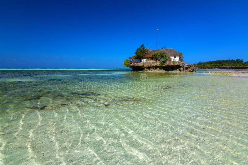 The rock island zanzibar stock image