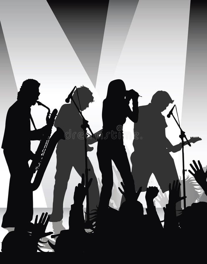 Rock jam stock illustration