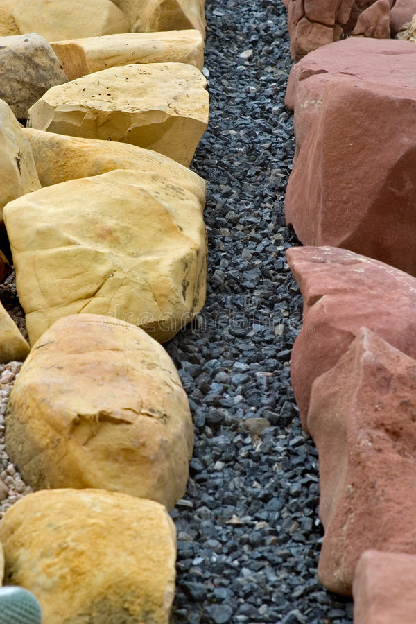 Rock Landscaping royalty free stock images