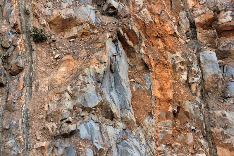 Rock layers - a colorful formations of rocks stacked over the hundreds of years. Interesting background with fascinating texture.  stock image