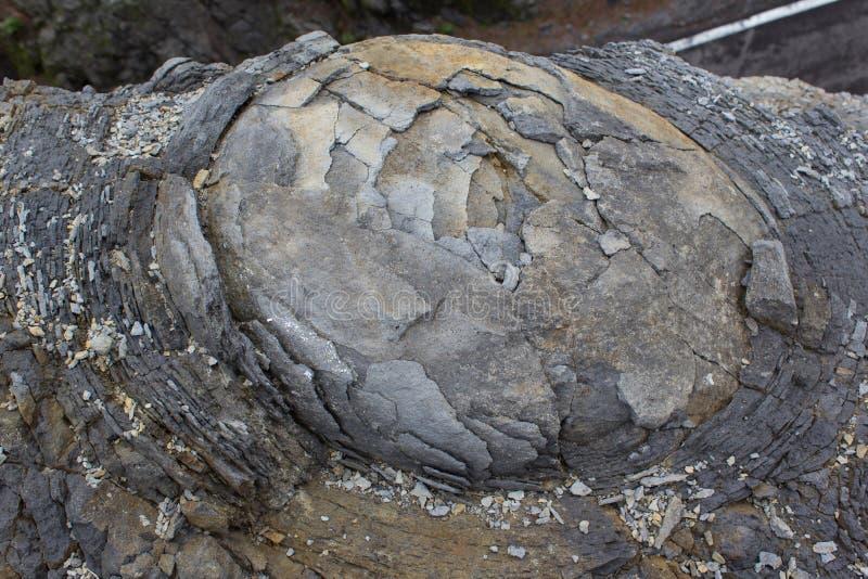 Rock macro, onion skin weathering / weathered stone texture stock images