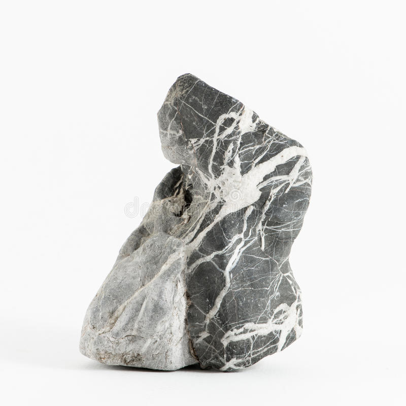 Rock. The marble rock with white background stock images
