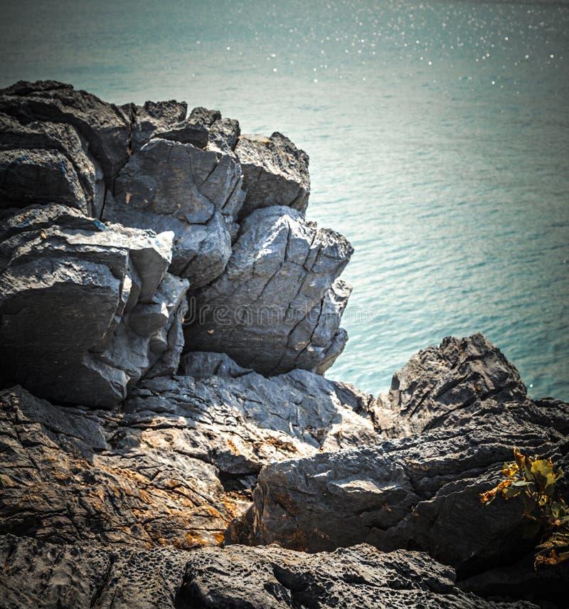 rock morza obrazy royalty free