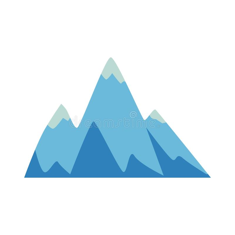 Rock and mountain icon, element with three peaks. stock illustration