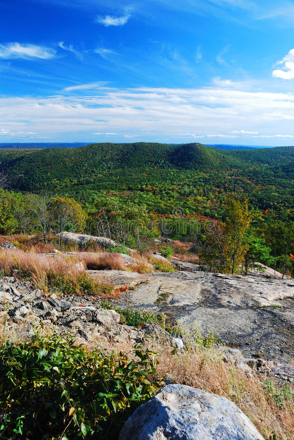 Rock mountain peak panorama view royalty free stock photos