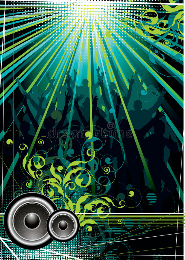 Download Rock music background stock vector. Image of bright, curves - 6447903