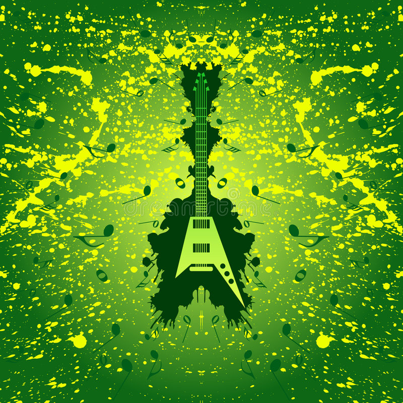 Rock music background - guitar royalty free stock images