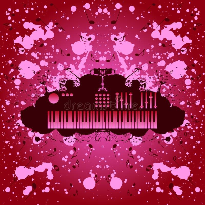Rock music background keyboard royalty free stock image