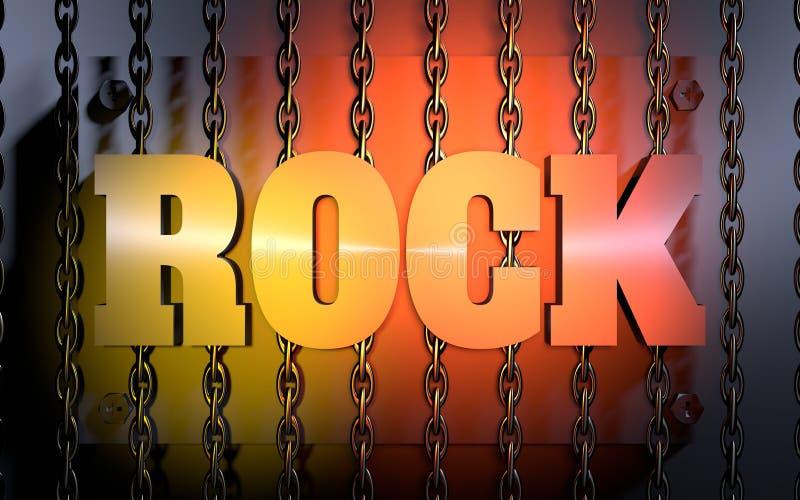 Rock music concept royalty free illustration