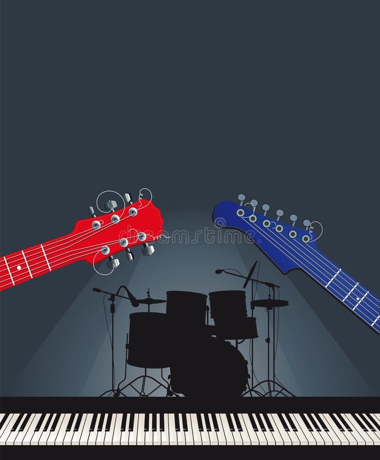 Rock music group vector illustration