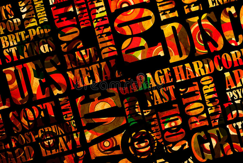 Download Rock Music poster stock illustration. Image of concept - 22677993