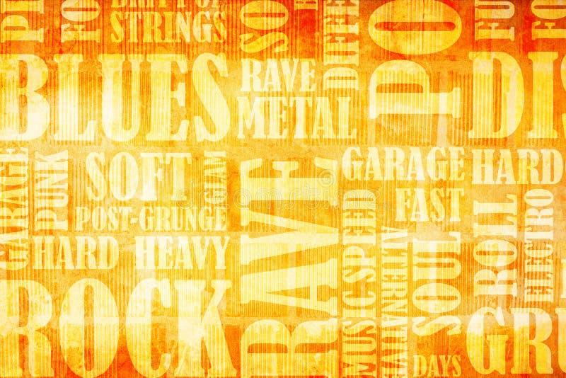Download Rock Music poster stock illustration. Illustration of creative - 22695427