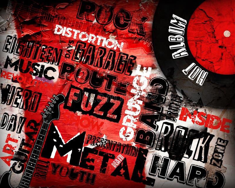 Rock Music poster stock illustration