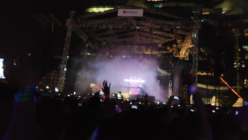 Rock music Sunburn festival, Mumbai, lndia stock photos