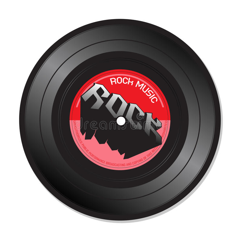 Download Rock music vinyl record stock vector. Image of dance - 36411148