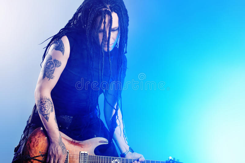 Download Rock musician stock photo. Image of hair, excitement - 19006480