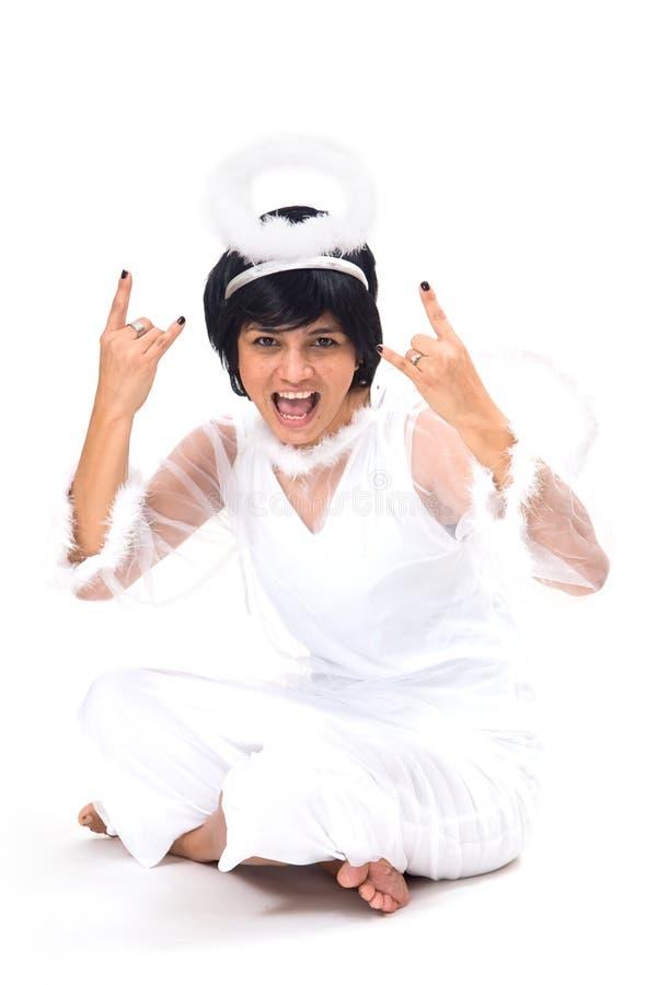 Download Rock'n Angel stock image. Image of evil, music, devil - 6942579