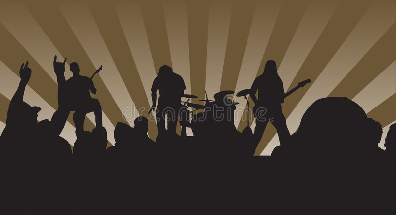 Download Rock n' Concert stock vector. Image of music, crowd, mosh - 1300892