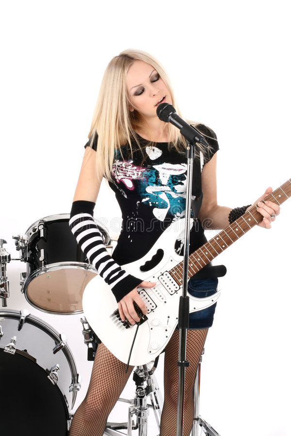 Rock-n-roll and anna royalty free stock image
