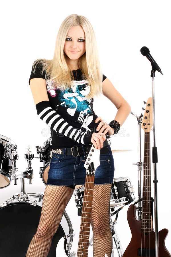 Rock-n-roll and Anna stock image