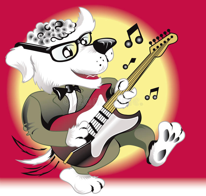 Rock  N Roll Dog Stock Photo