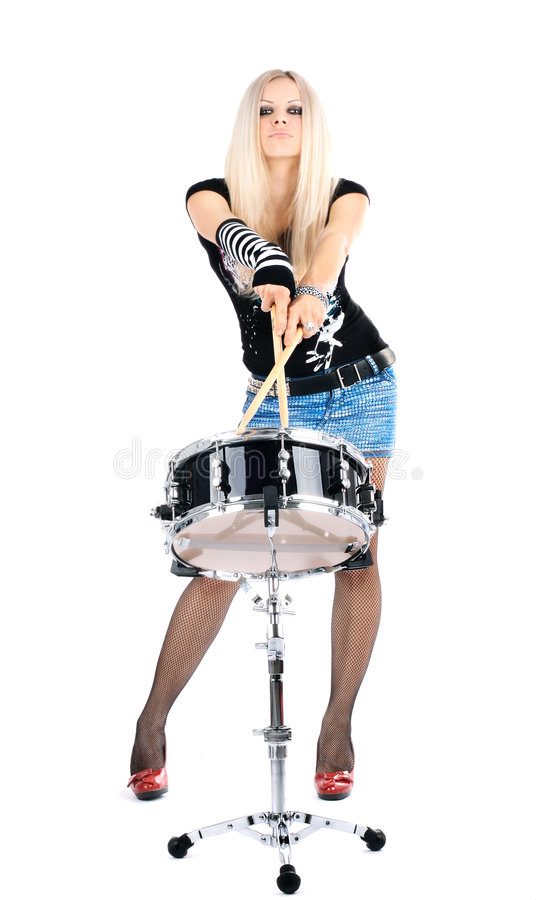 Free Rock-n-roll With The Beautiful Blonde Stock Photo - 8278690