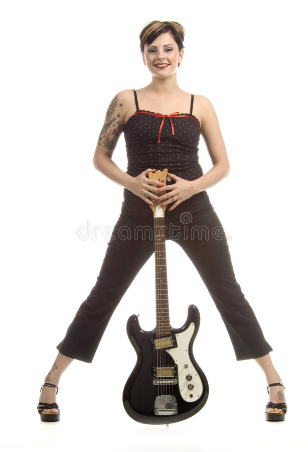 Rock'n roll and women royalty free stock photo
