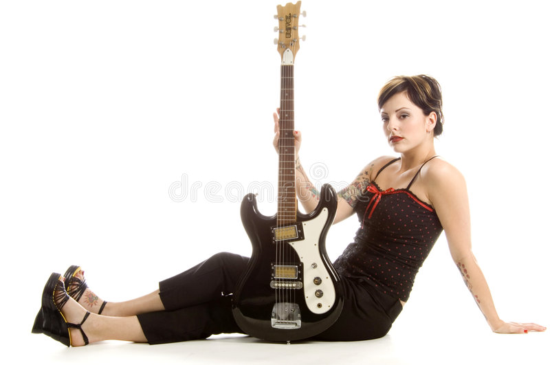 Rock'n roll and women royalty free stock photos