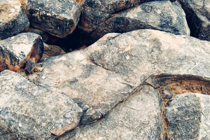 Rock. The nature creats it with hardness and coliured beauty stock image