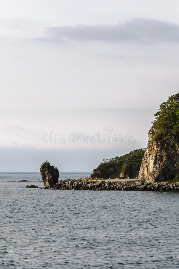 Rock near the sea royalty free stock image